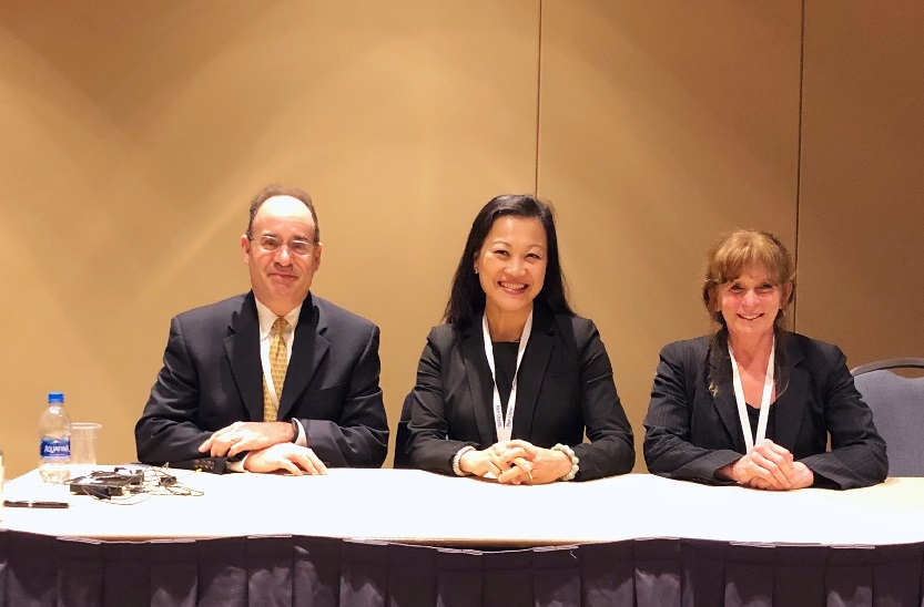 Blank Rome's Deborah Greenspan and Sophia Lee with co-panelist Steven J. Fram (Vice President & General Counsel of The Morey Organization, Inc.) at ACC Greater Philadelphia 10th Annual In-House Counsel Conference