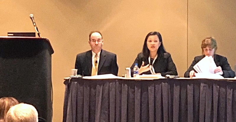Blank Rome's Deborah Greenspan and Sophia Lee with co-panelist Steven J. Fram (Vice President & General Counsel of The Morey Organization, Inc.) at ACC Greater Philadelphia 10th Annual In-House Counsel Conference 02