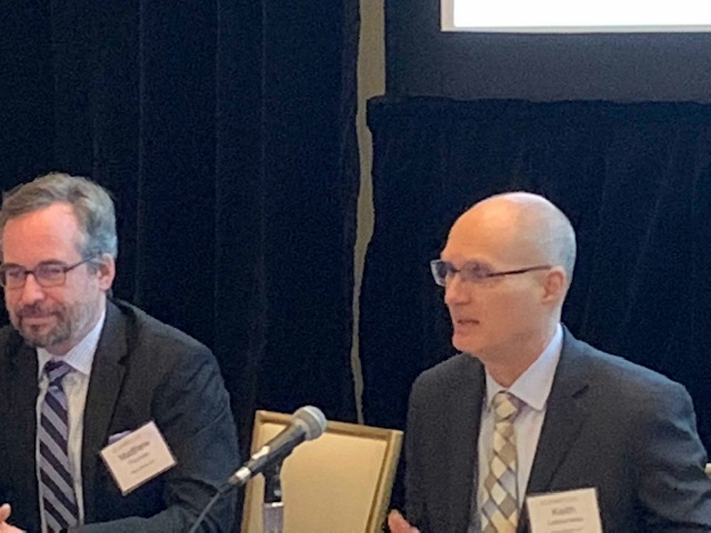 Matt Thomas (left) and Keith Letourneau at Blank Rome Pittsburgh Energy Industry Update 2018