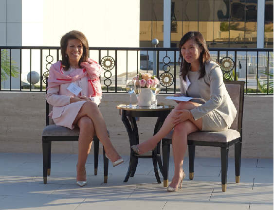 Stacy Phillips and Cheryl Chang at Polishing Your Practice to Perfection 052318