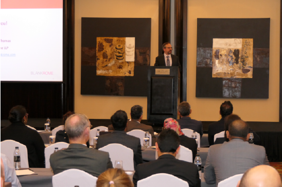"Matt Thomas presenting ""U.S. Sanctions and Trade Policy: Key Issues and Updates"" in Dubai, March 19, 2019"
