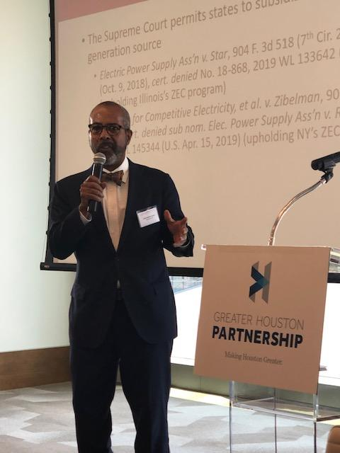 Chris Lewis speaks at North American Environment, Energy, and Natural Resources Conf April 26 2019