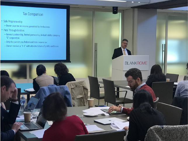 Malcolm Sandilands speaks at D.C. Bar Pro Bono Center Small Business Legal Issues Training