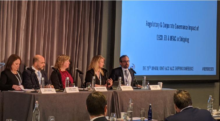 Matt Thomas speaks on panel at the 26th Annual Joint Shipping Conference 020420