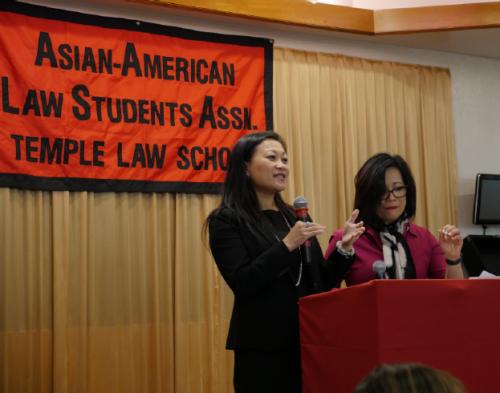 Sophia Lee speaks at 2019 Temple APALSA Lunar Banquet