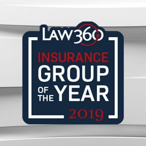 Law360 Insurance Badge